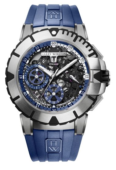 Harry Winston Ocean Sport Blue Chronograph_20130814_Zoom
