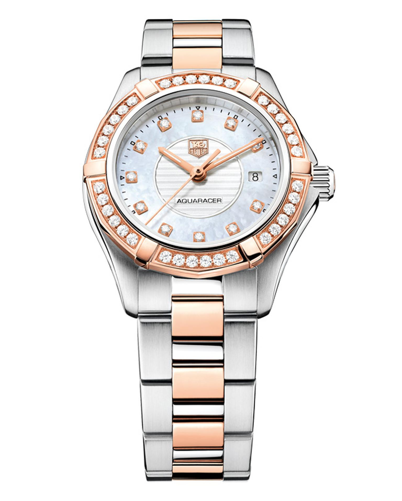 TAG Heuer Aquaracer Lady rose gold steel and diamonds_20130822_Main