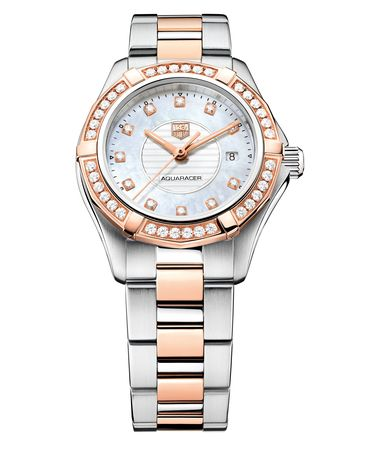 TAG Heuer Aquaracer Lady rose gold steel and diamonds_20130822_Zoom