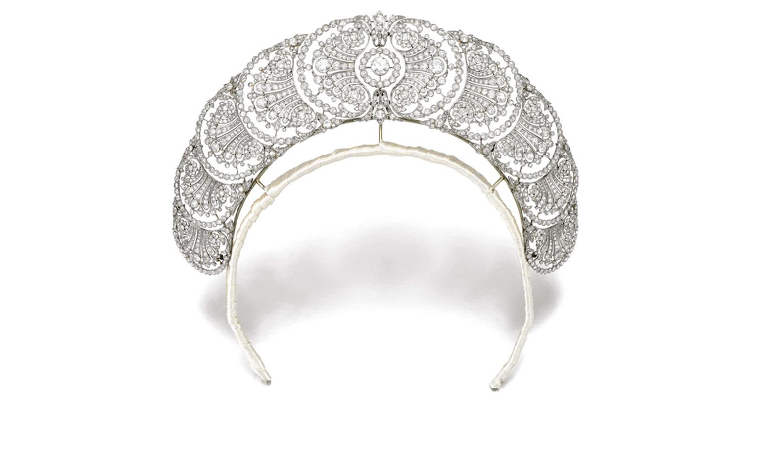 Lot 287. Property of Ducal House. Diamond Tiara. 1920's. Estimate £35,000-£55,000