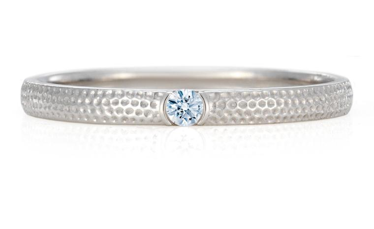 DE BEERS. Azulea Band, White diamond on white gold, 0.03 total carat weight. Price from £600