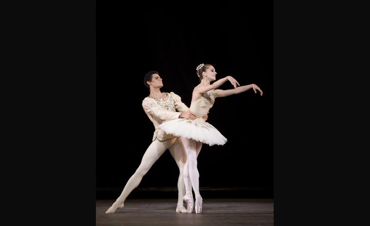 Thiago Soares and Marianela Nuñez in Diamonds as part of Jewels. Photo Johan Persson