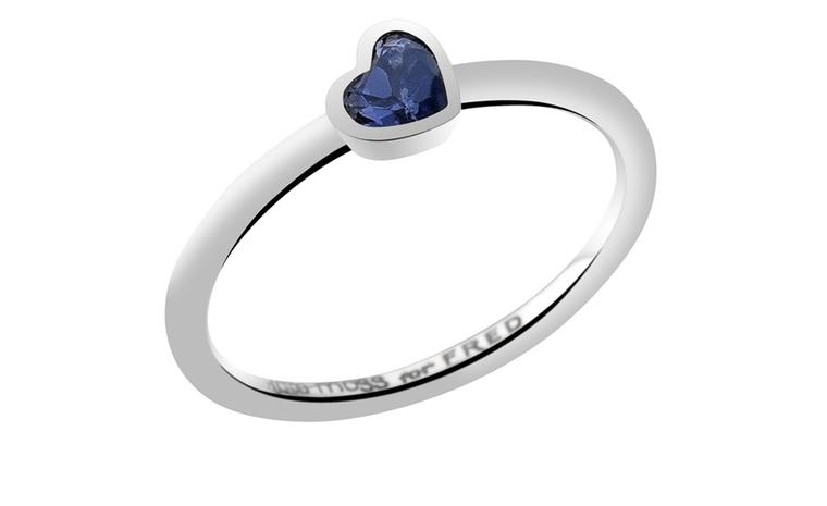 Kate Moss for FRED Collection. White gold Heart ring with iolite. Price from 550 €