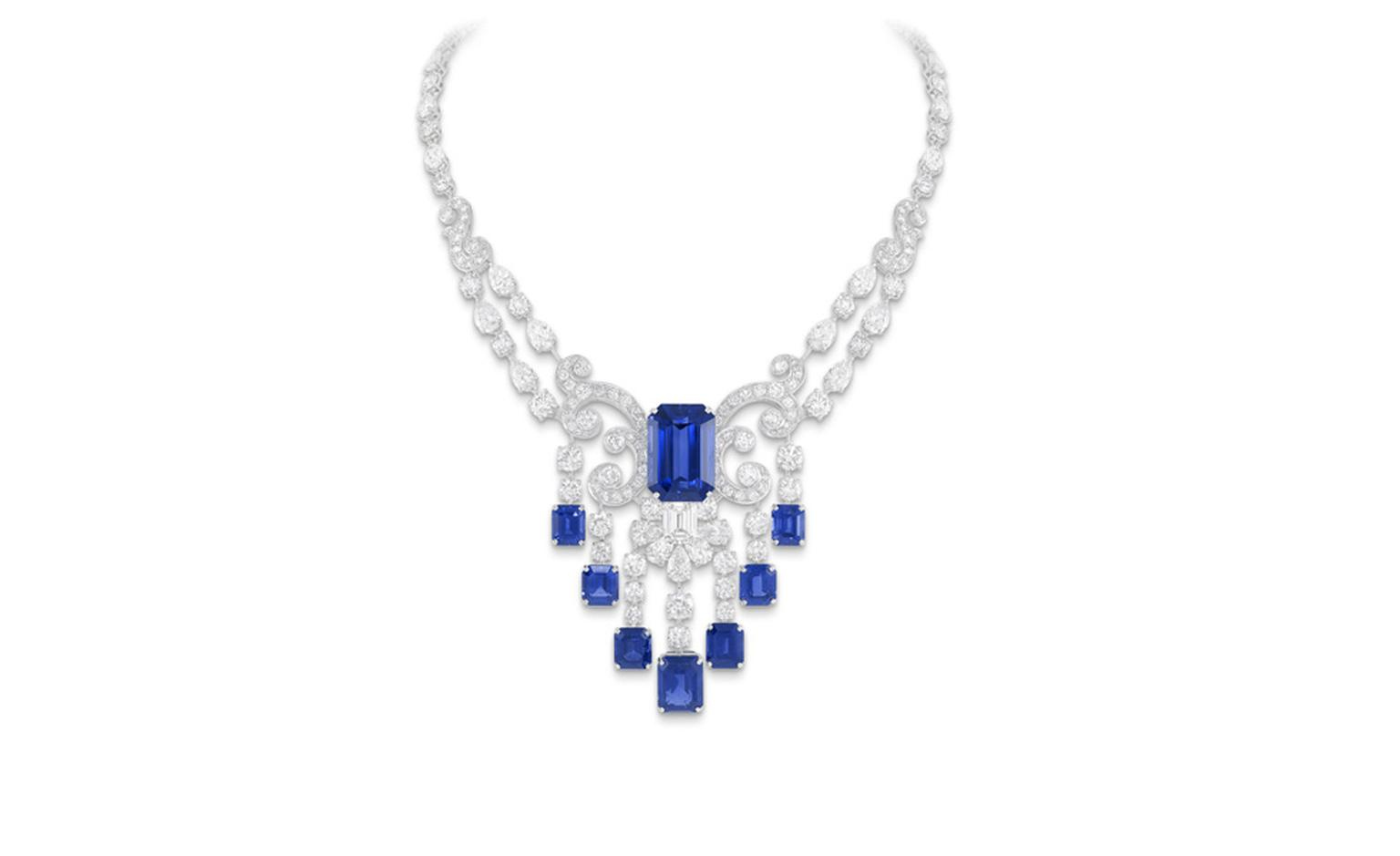 GRAFF. Sapphire and Diamond Scroll Necklace. POA.