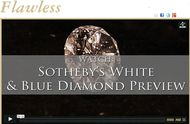 Maria Doulton visits Sothebys to get a sneak peek at the two potentially record breaking diamonds that will be auctioned in Hong Kong this October