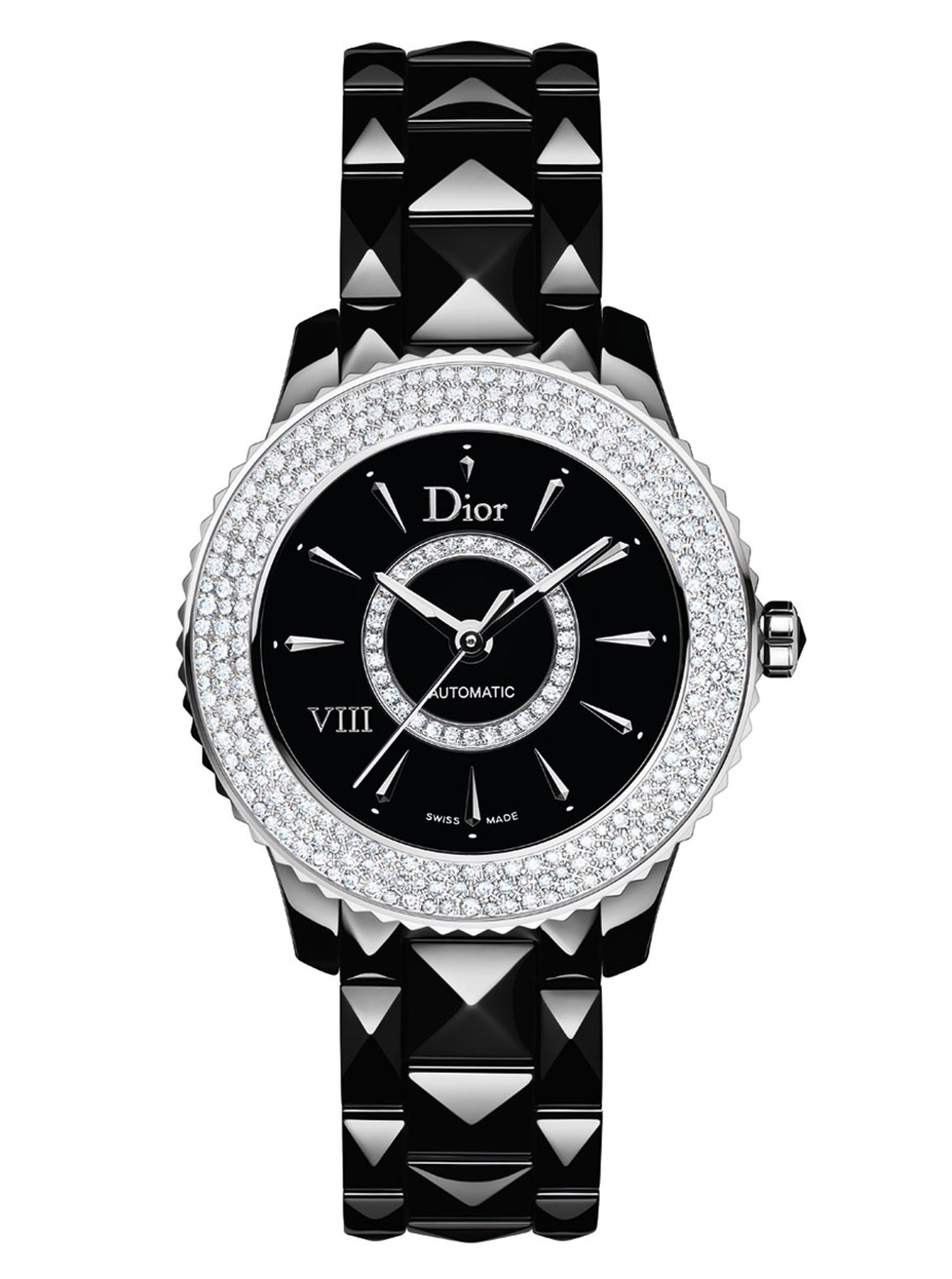 DIOR-VIII-BLACK-AUTO-DIAMOND-SNOW-SET-BEZEL-33mm