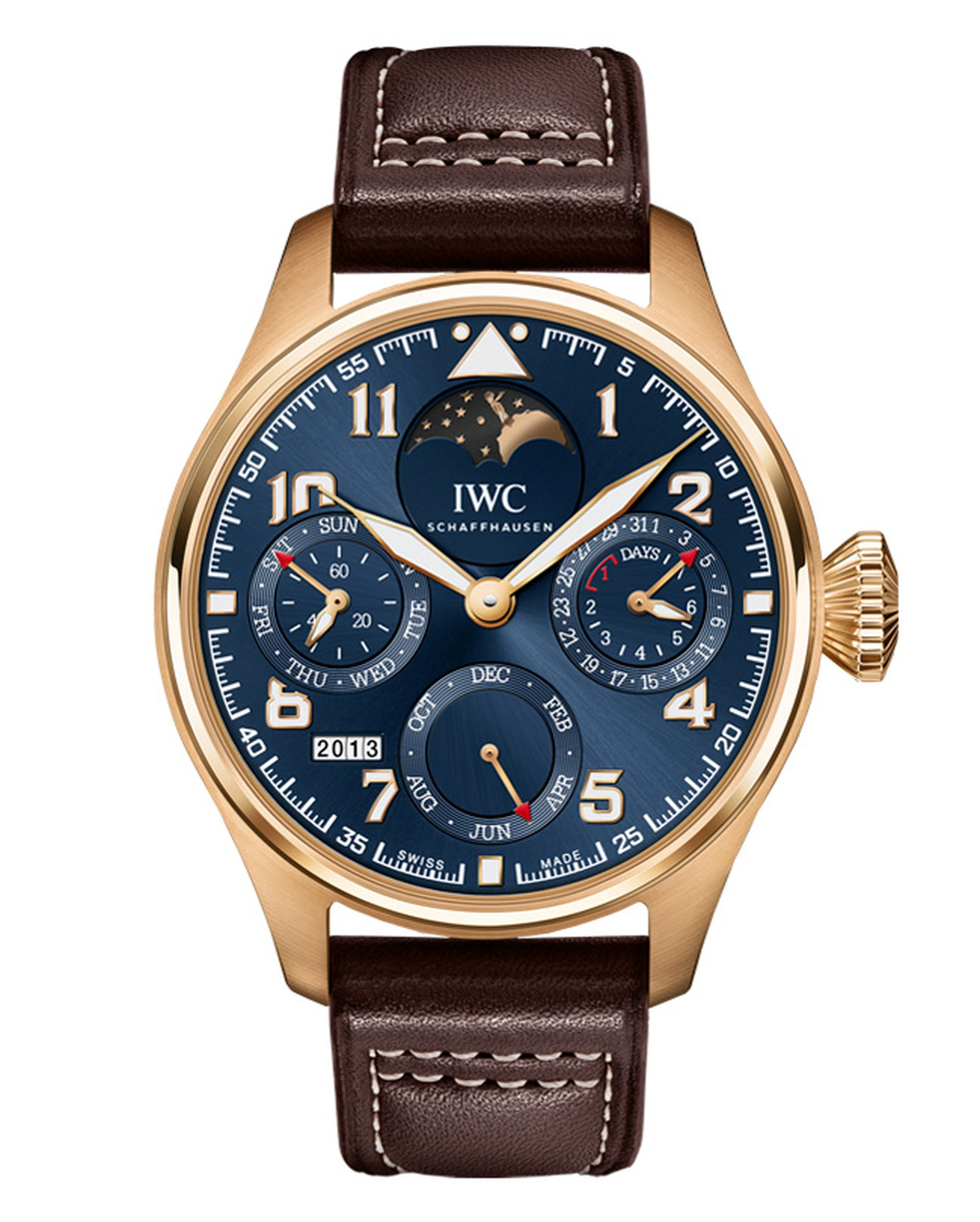IWC Big Pilot's Watch Perpetual Calendar Edition Le Petit Prince 18ct red gold_20131011_Main.gif