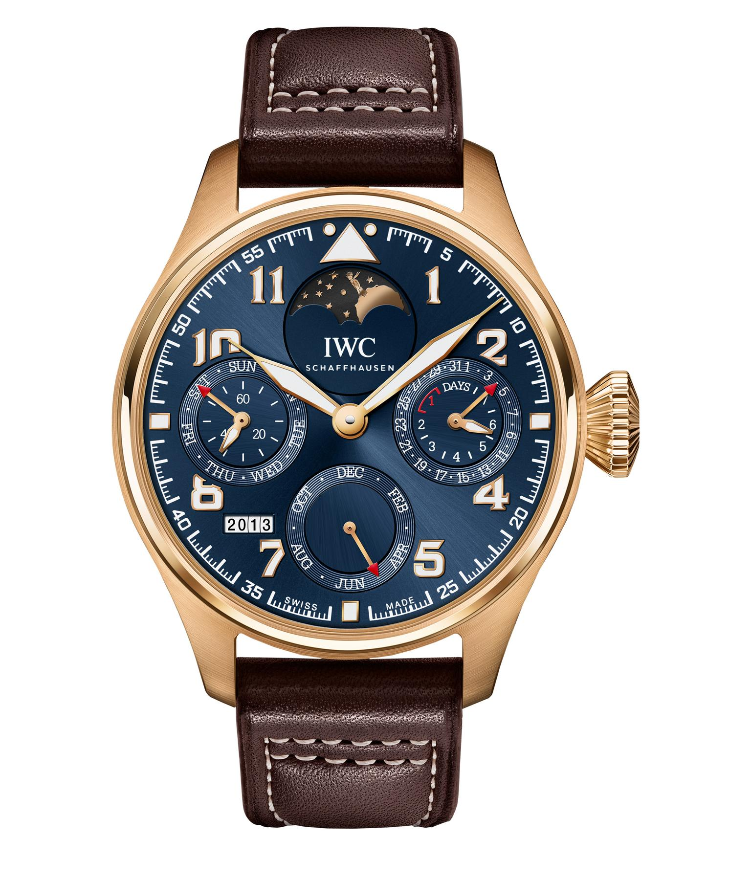 IWC Big Pilot's Watch Perpetual Calendar Edition Le Petit Prince 18ct red gold_20131011_Zoom