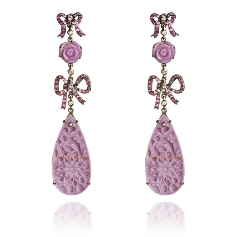 Wendy-Yue-Fantasie-18ct-white-gold--diamondsapphire-and-Phosphosiderite--Sherbet-Bow-earrings-By-Wendy-Yue-for--Annoushka
