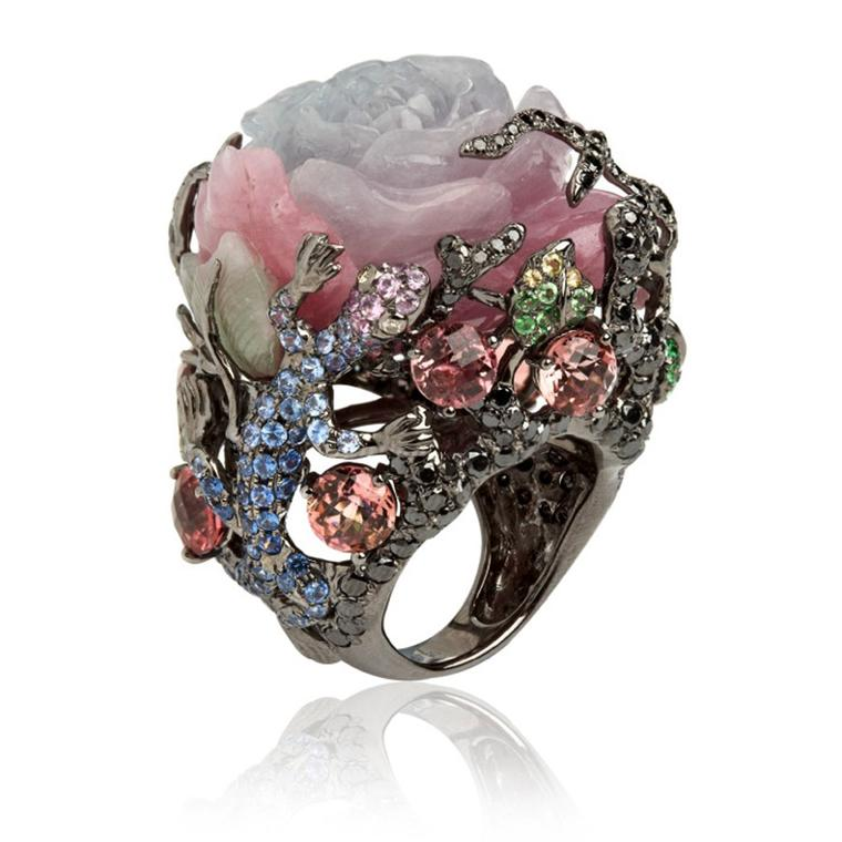 Wendy-Yue-Fantasie-18ct-white-gold--diamondsapphiregarnetjade-and-tourmaline-Dusty-Rose-ring-By-Wendy-Yue--for-Annoushka