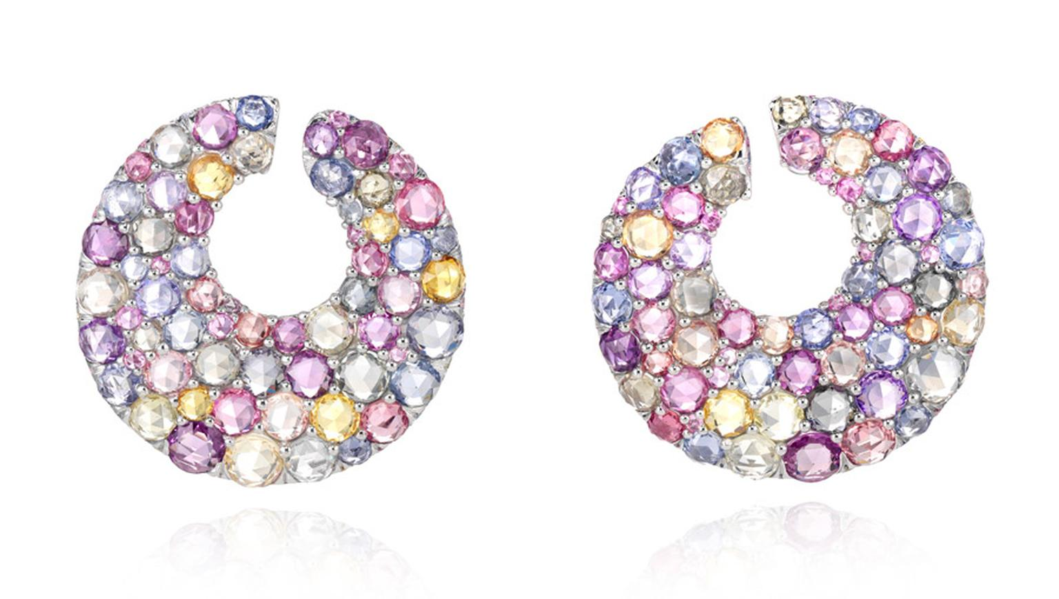 Chopard-Cannes-Multicoloured-Sapphire-Earrings