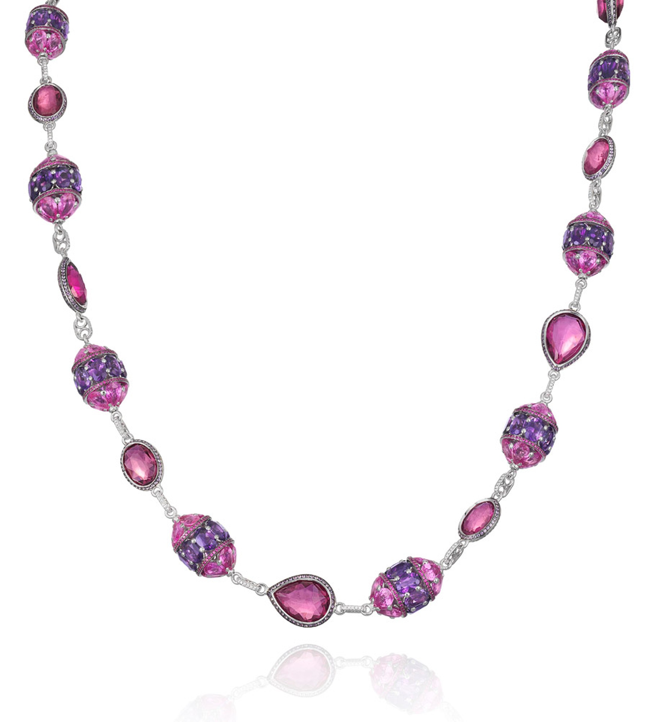Chopard-Cannes-Pink-Papphire-and-Amethyst-Necklace