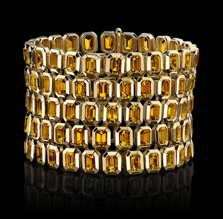 Five-Row-Citrine-Bracelet-in-the-Tablet-Style