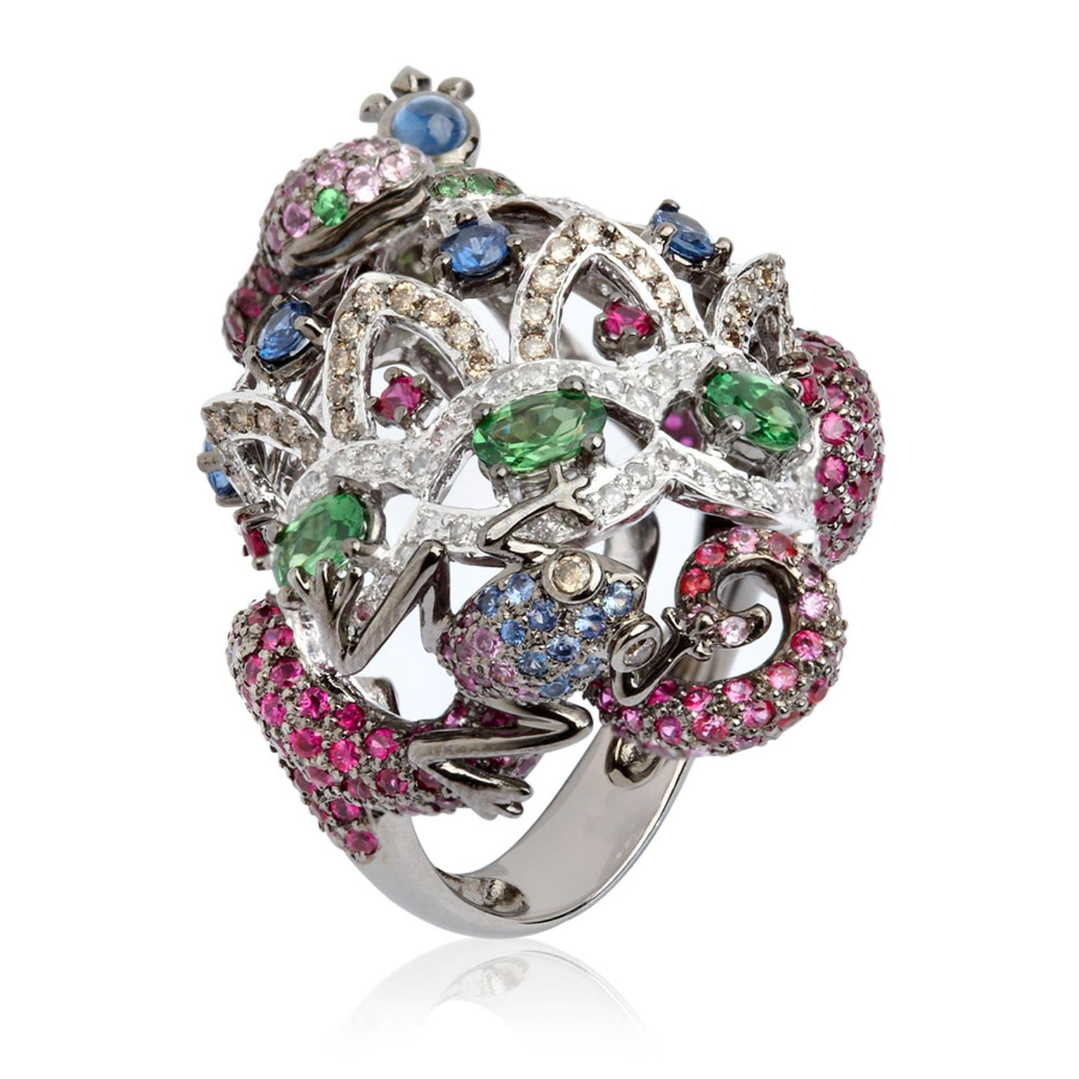 Wendy-Yue-Fantasie--Jubilee-18ct-white-gold-diamond-sapphire-ruby-and-garnet-Serpent-ring-by-Wendy-Yue-for-Annoushka_03