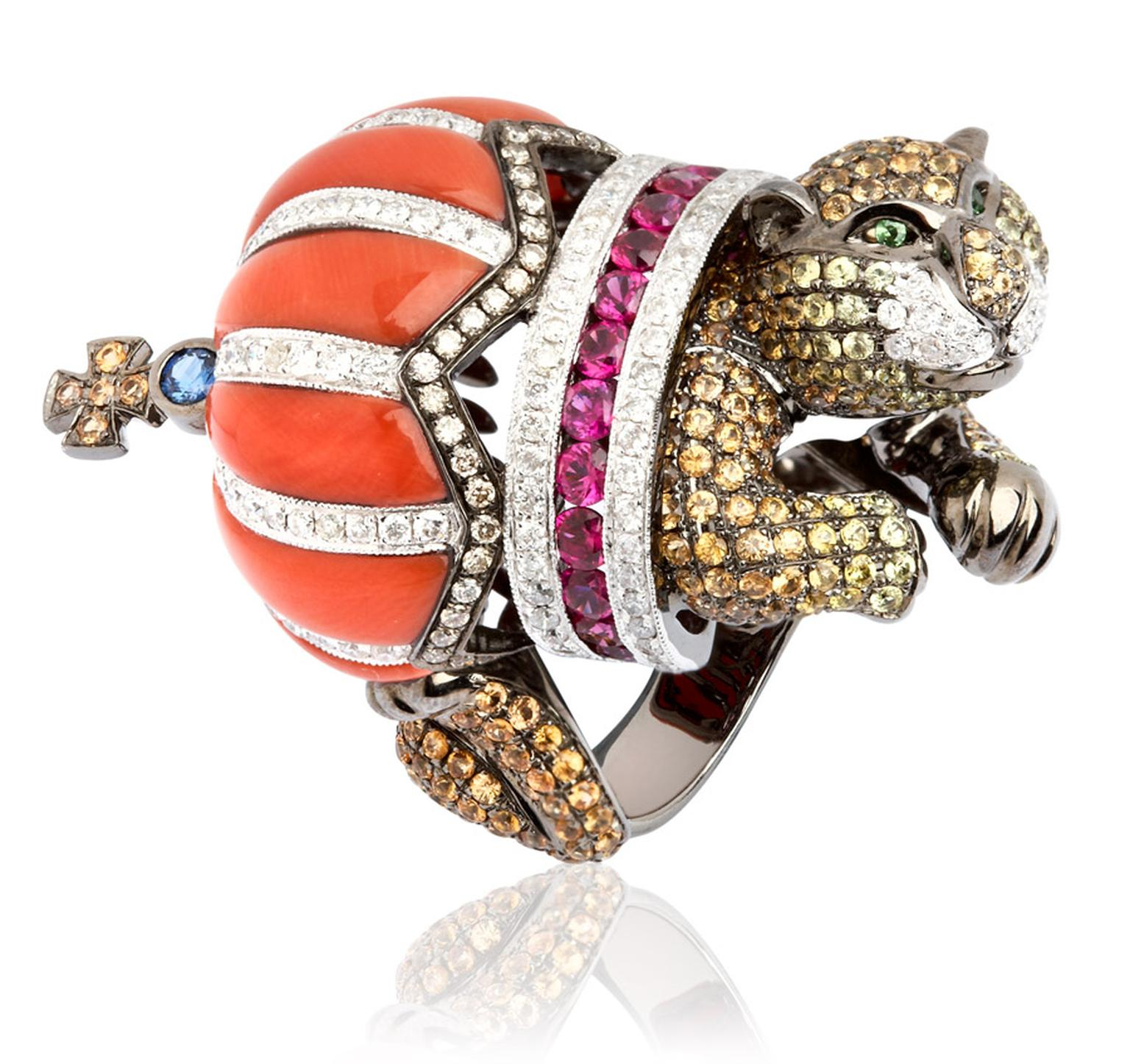 Wendy-Yue-Fantasie-Jubilee-18ct-yellow-gold-diamond-sapphire-garnet-and-ruby-Lion-ring-by-Wendy-Yue-for-Annoushka_01