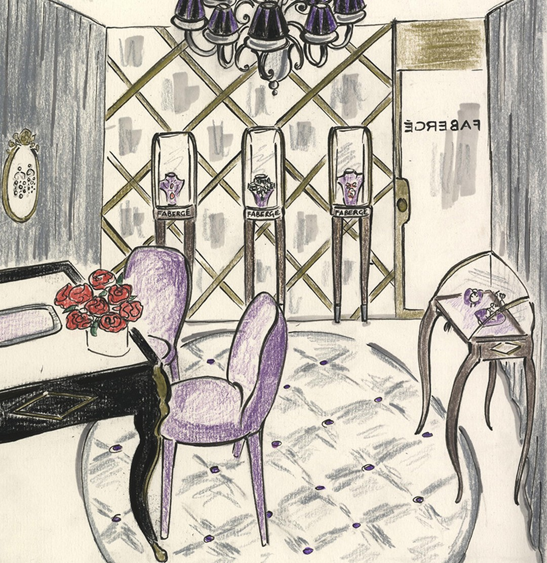 Faberge-New-York-Madison-Avenue-Boutique-Sketch