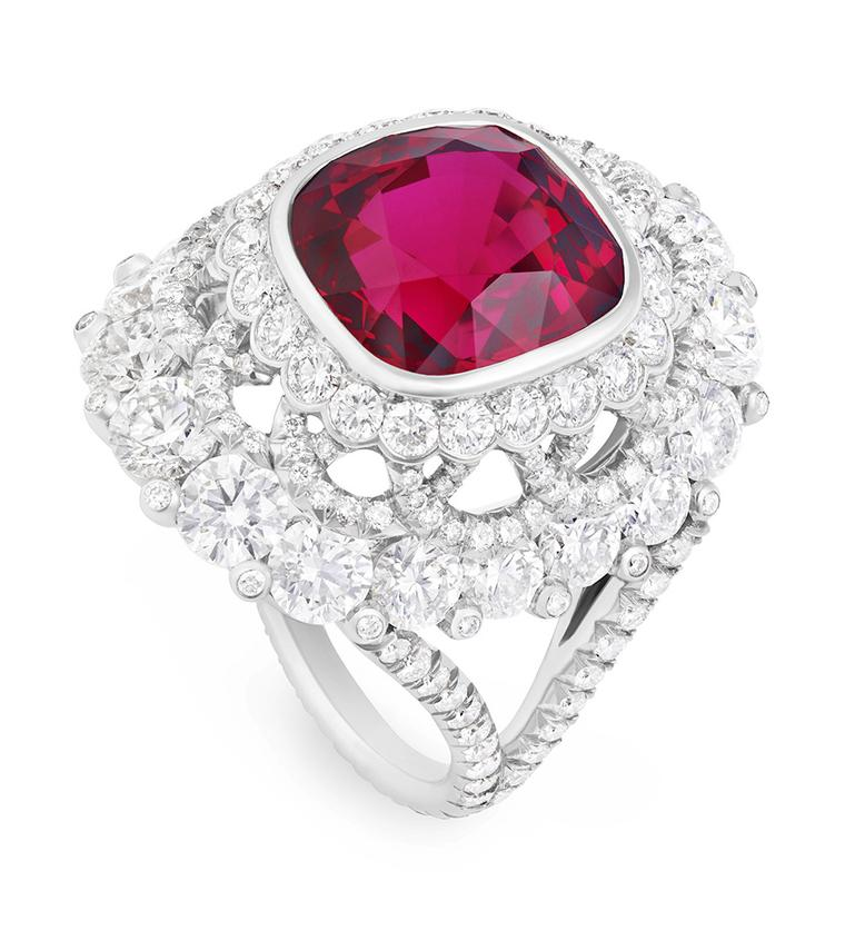 Faberge-Spinel-Ring