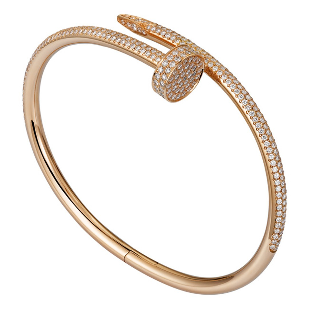 Cartier Juste un Clou pink gold and part pave diamond bracelet_20131107_Main
