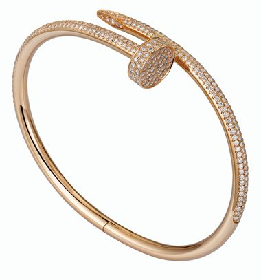 Cartier Juste un Clou pink gold and part pave diamond bracelet_20131107_Zoom