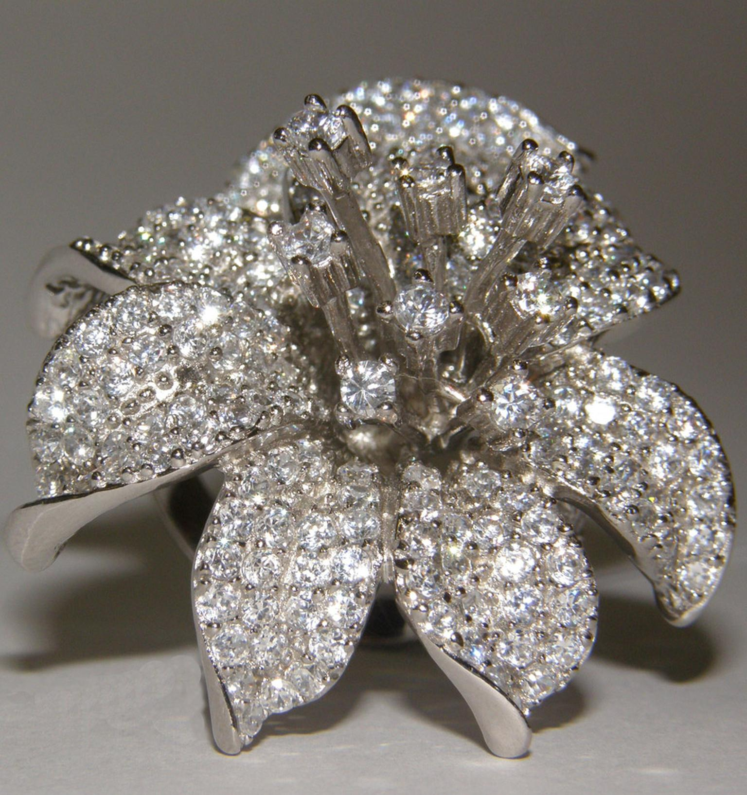 Burlington-Arcade-Large-Flower-ring-set-in-silver-rodhium-plated-stones-Cubic-Zirconia