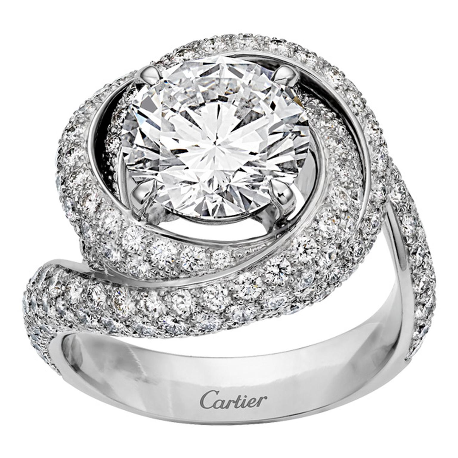 Cartier Trinity Ruban Solitaire platinum and diamond ring_20131122_Main