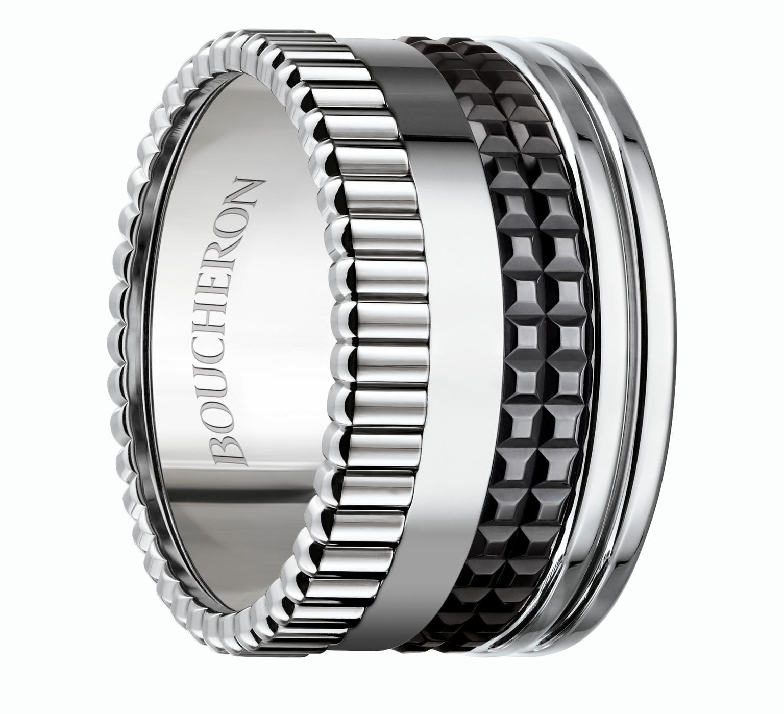 Boucheron large white and black gold Quatre ring_20131122_Zoom