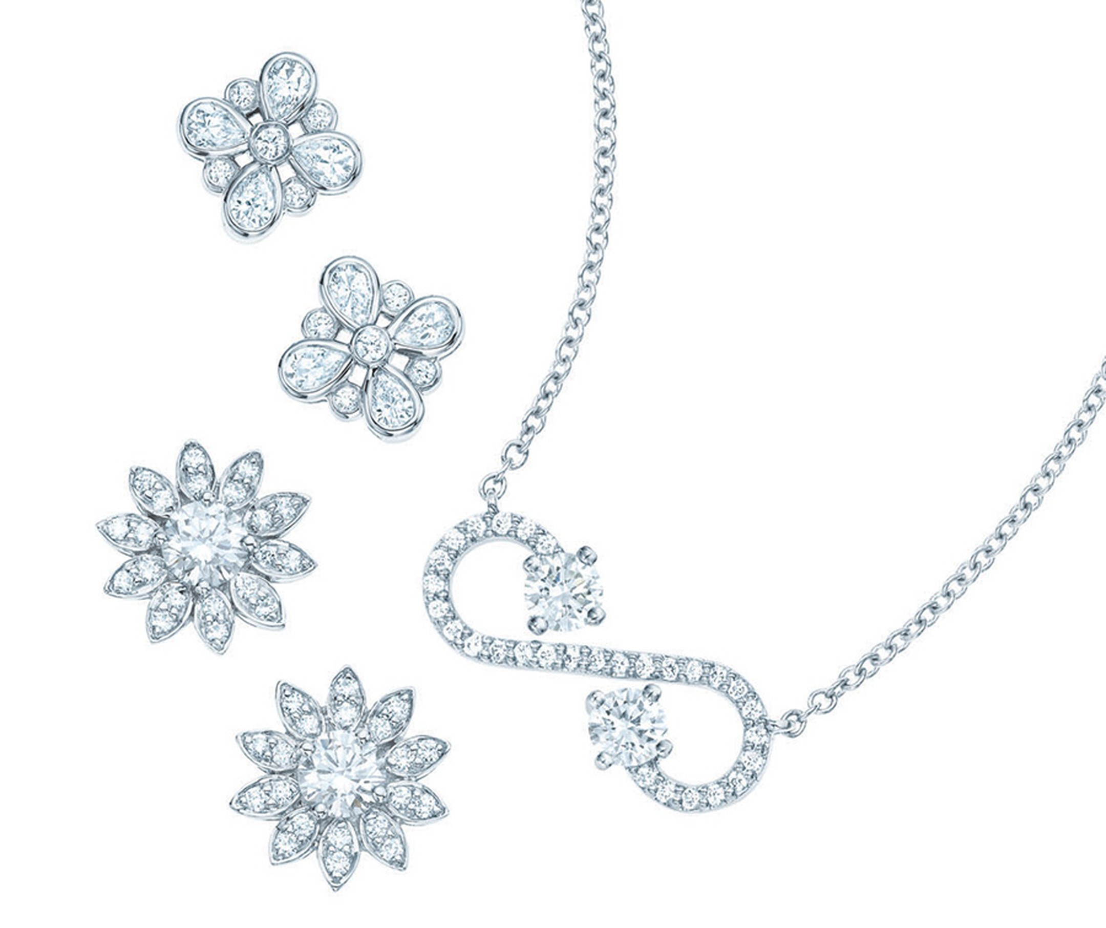 Tiffany-Enchant-scroll-pendant-and-earrings-with-diamonds-in-platinum