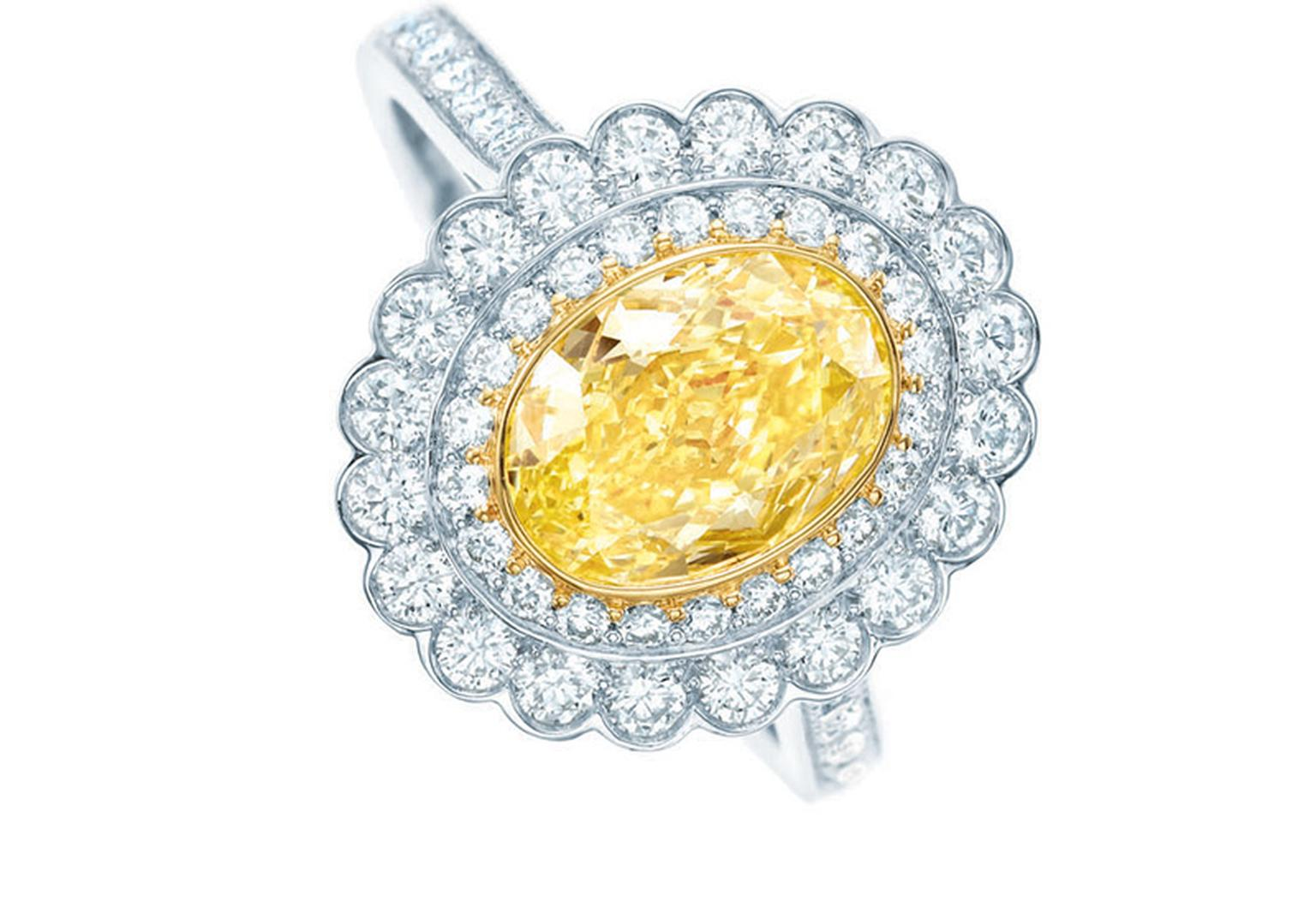 Tiffany-Enchant-yellow-and-white-diamond-rings-set-in-platinum2