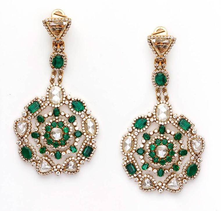 Amrapali-Emerald-and-Diamond-earrings