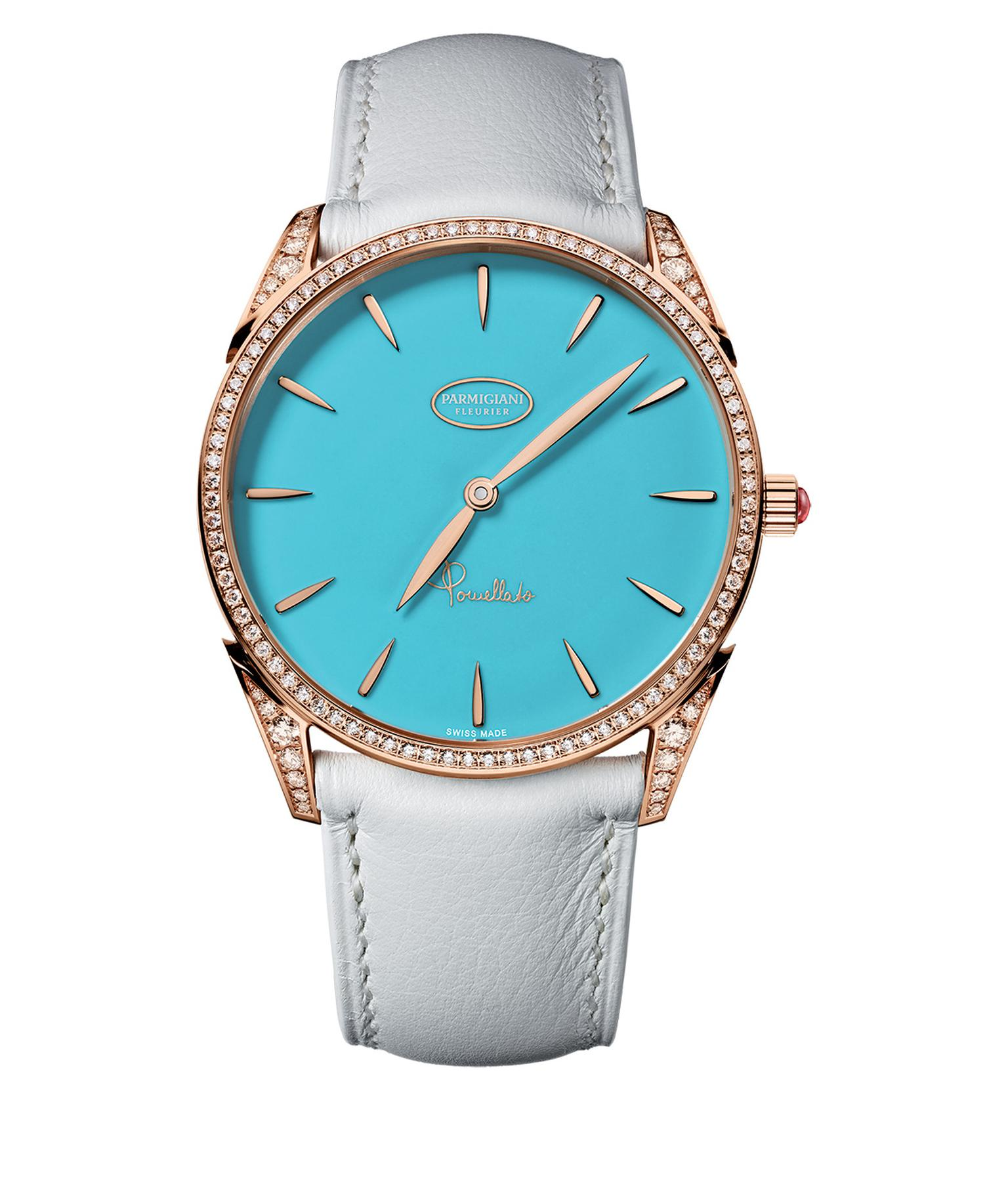 Tonda Pomellato Parmigiani Capri rose gold watch with turquoise and diamonds_20131212_Zoom
