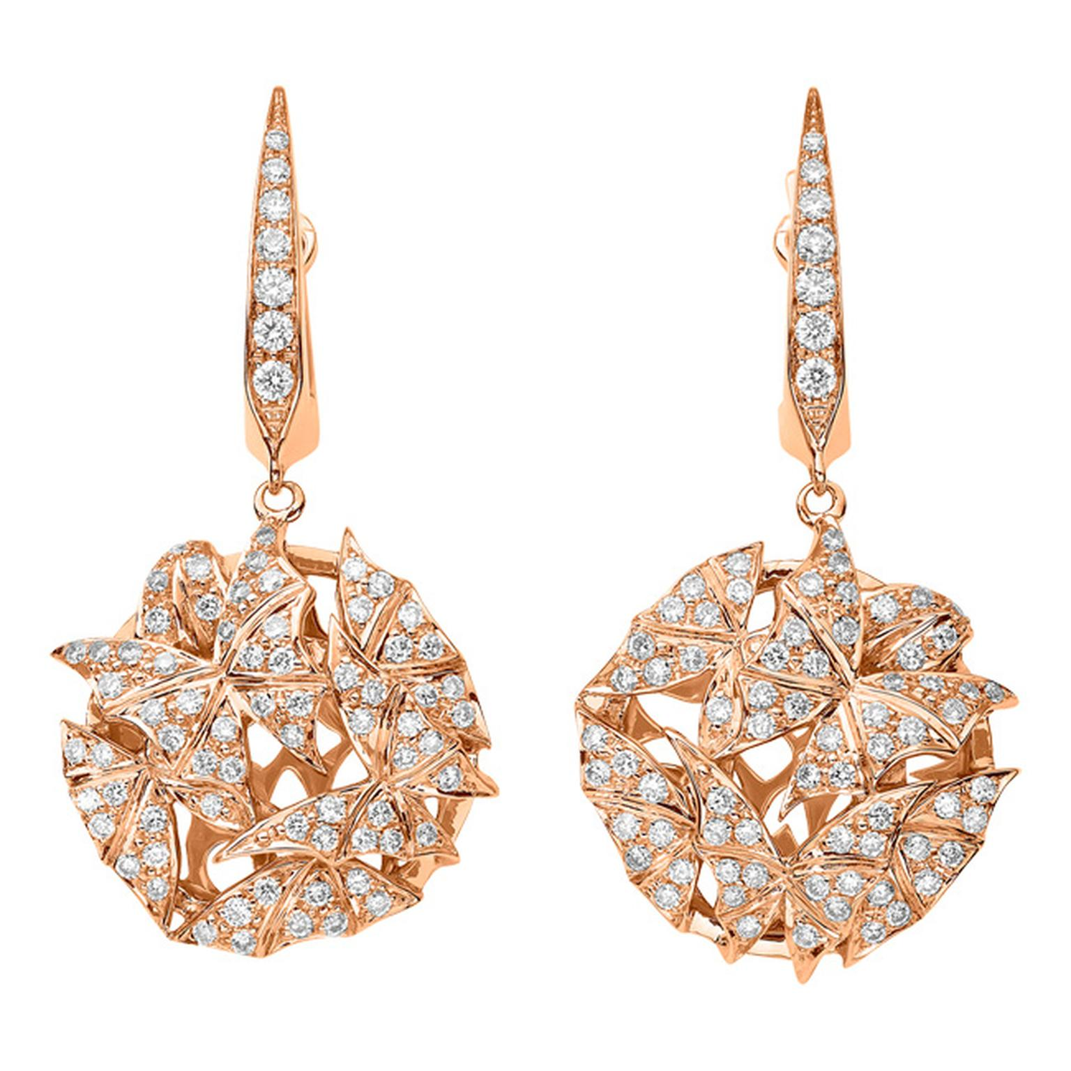 Stephen Webster Fly by Night Mothball earrings in rose gold and diamonds_20131220_Main