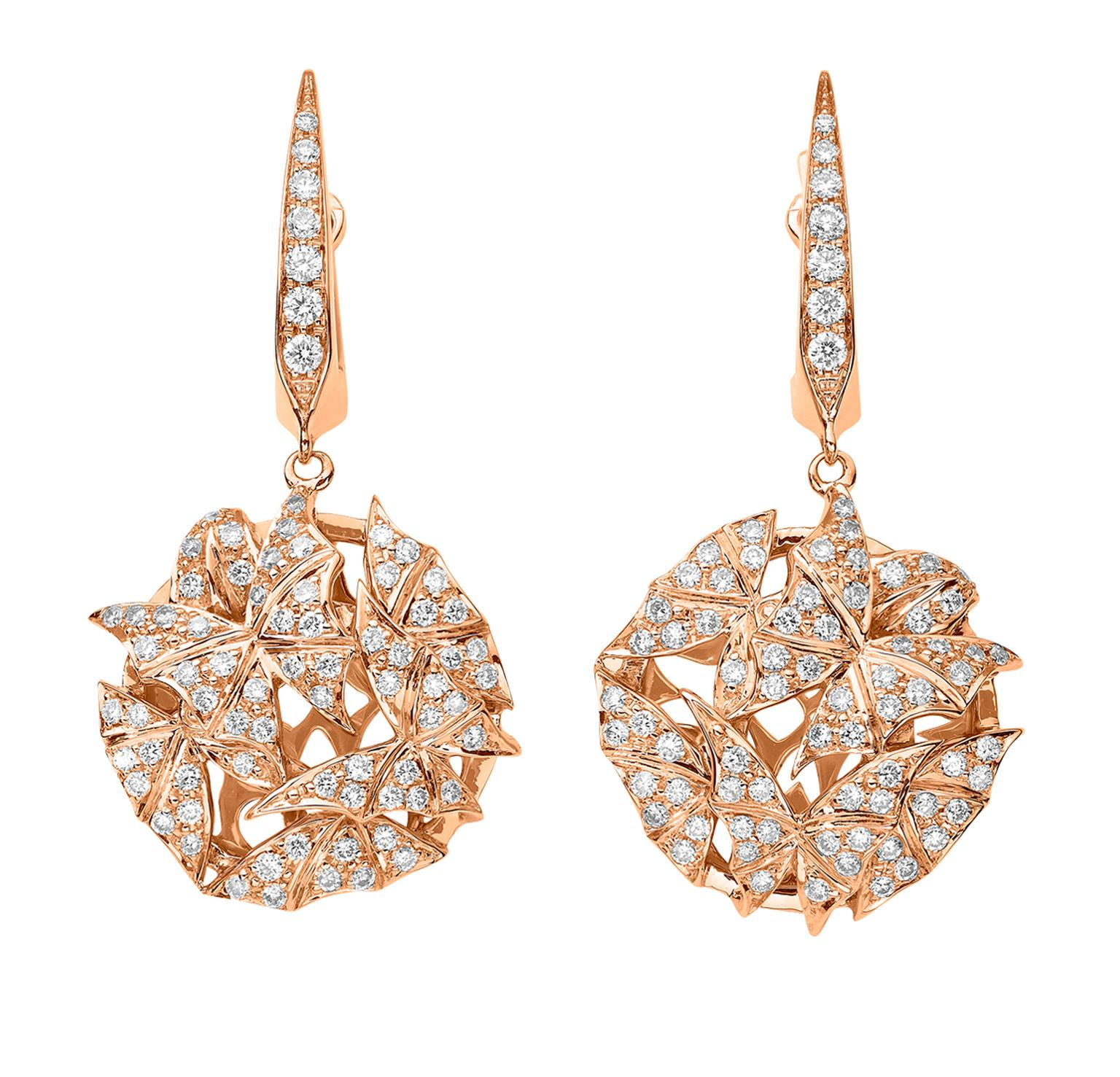 Stephen Webster Fly by Night Mothball earrings in rose gold and diamonds_20131220_Zoom