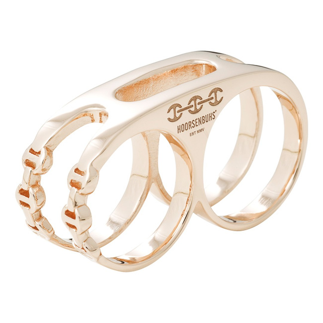 Hoorsenbuhs Double Knuckle ring in Rose Gold_20131227_Main