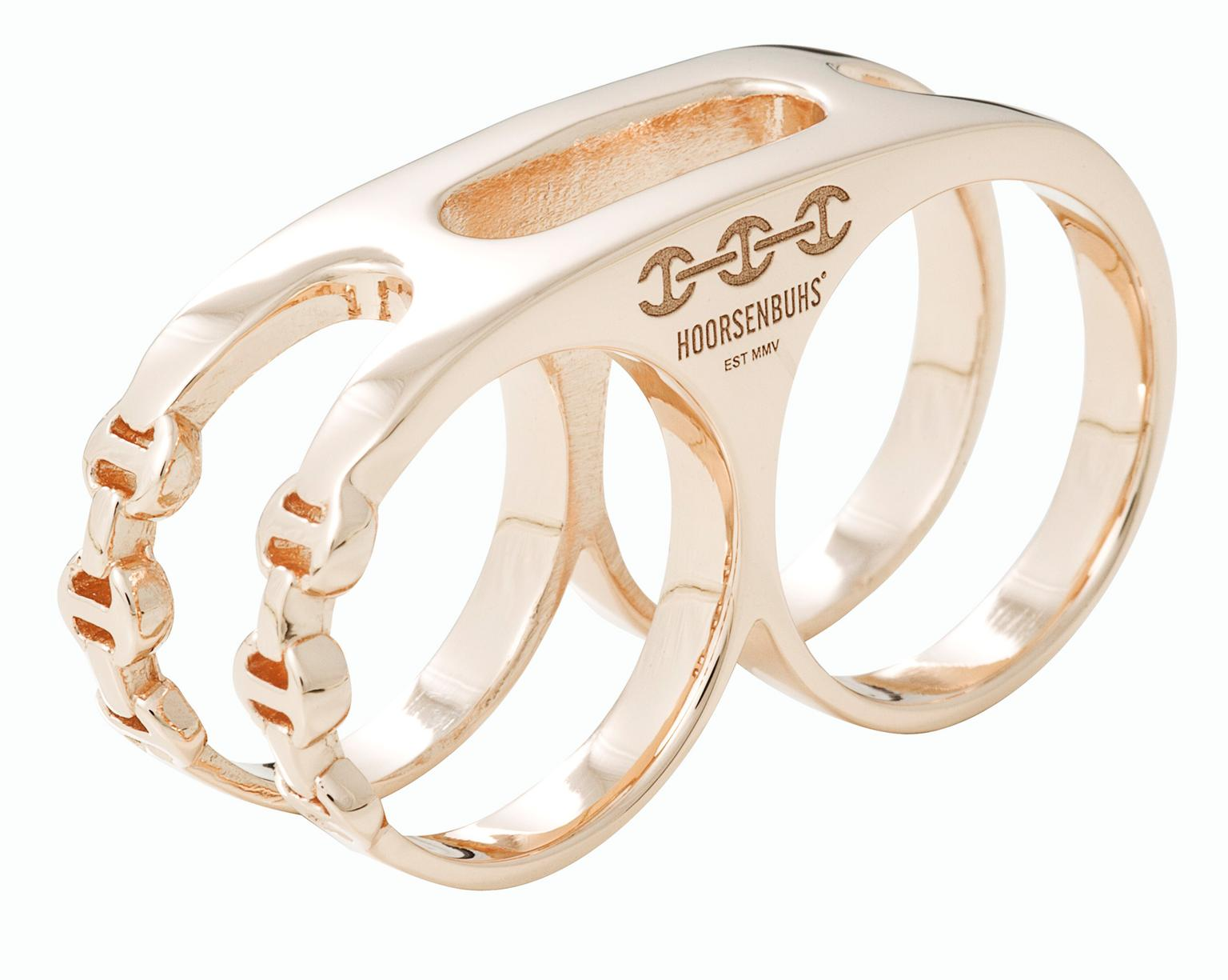 Hoorsenbuhs Double Knuckle ring in Rose Gold_20131227_Zoom