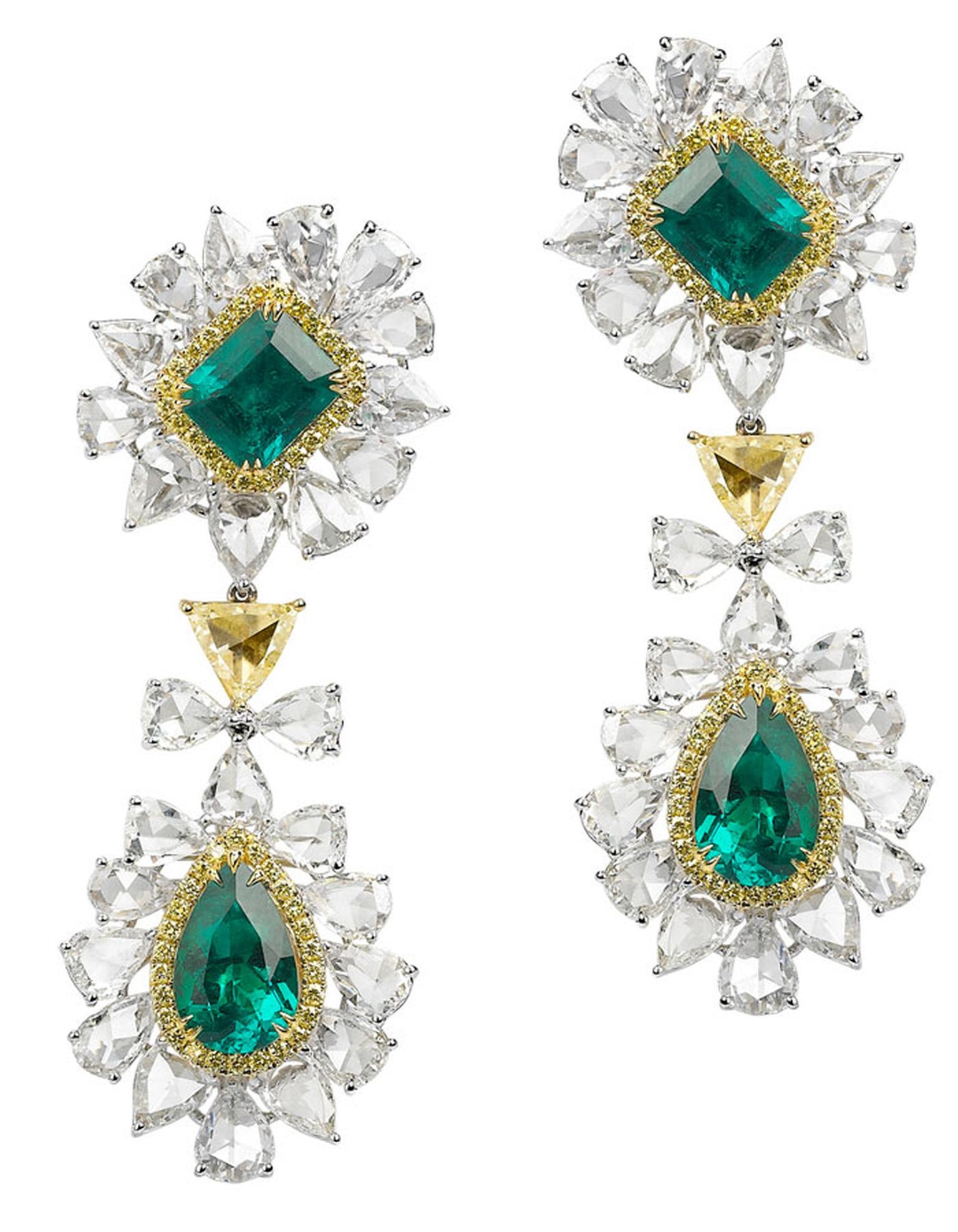 Avakian-diamond-and-emerald-earrings