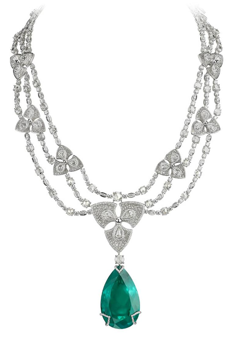 Avakian-pear-shape-emerald-necklace