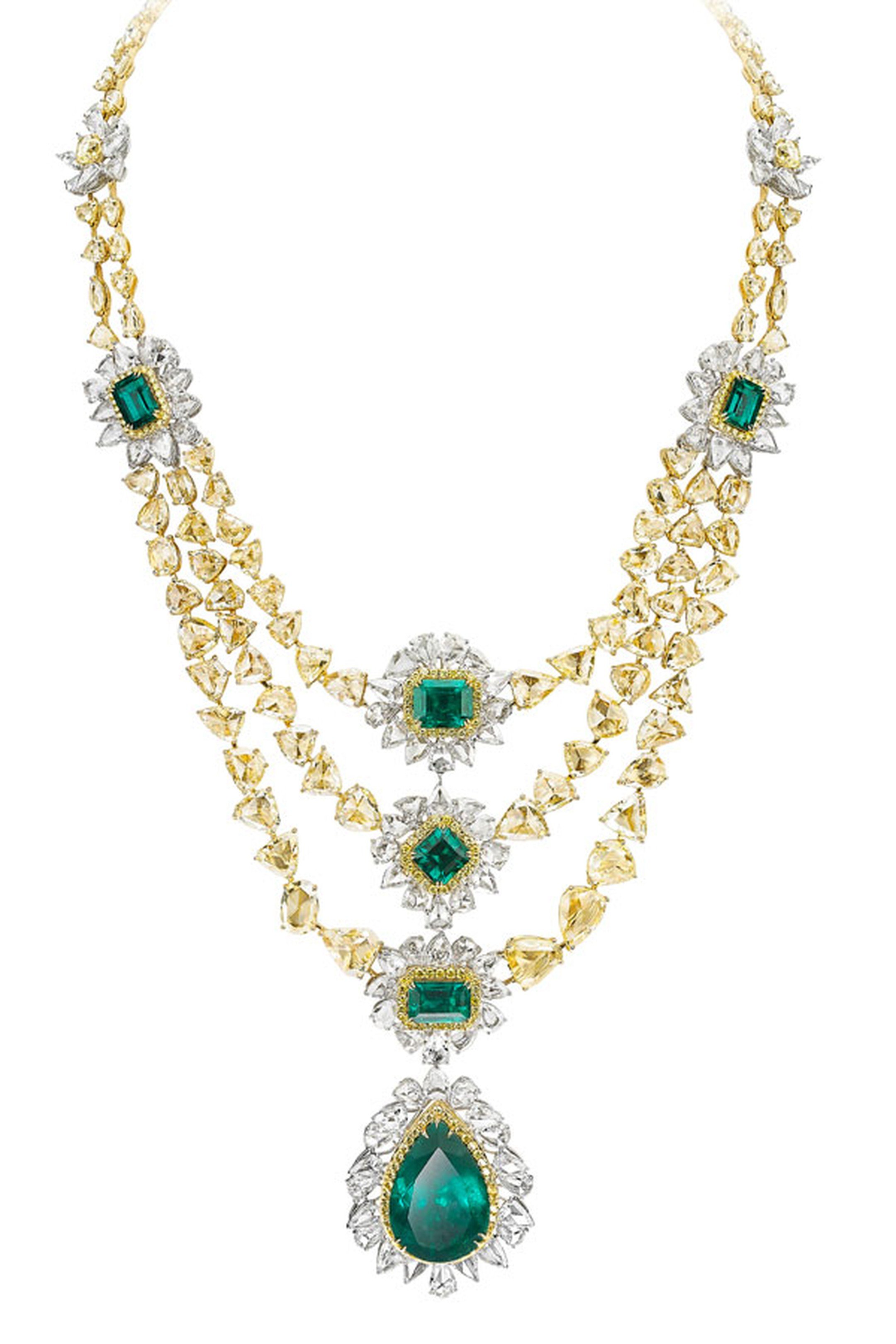Avakian-yellow-diamond-and-emerald-necklace