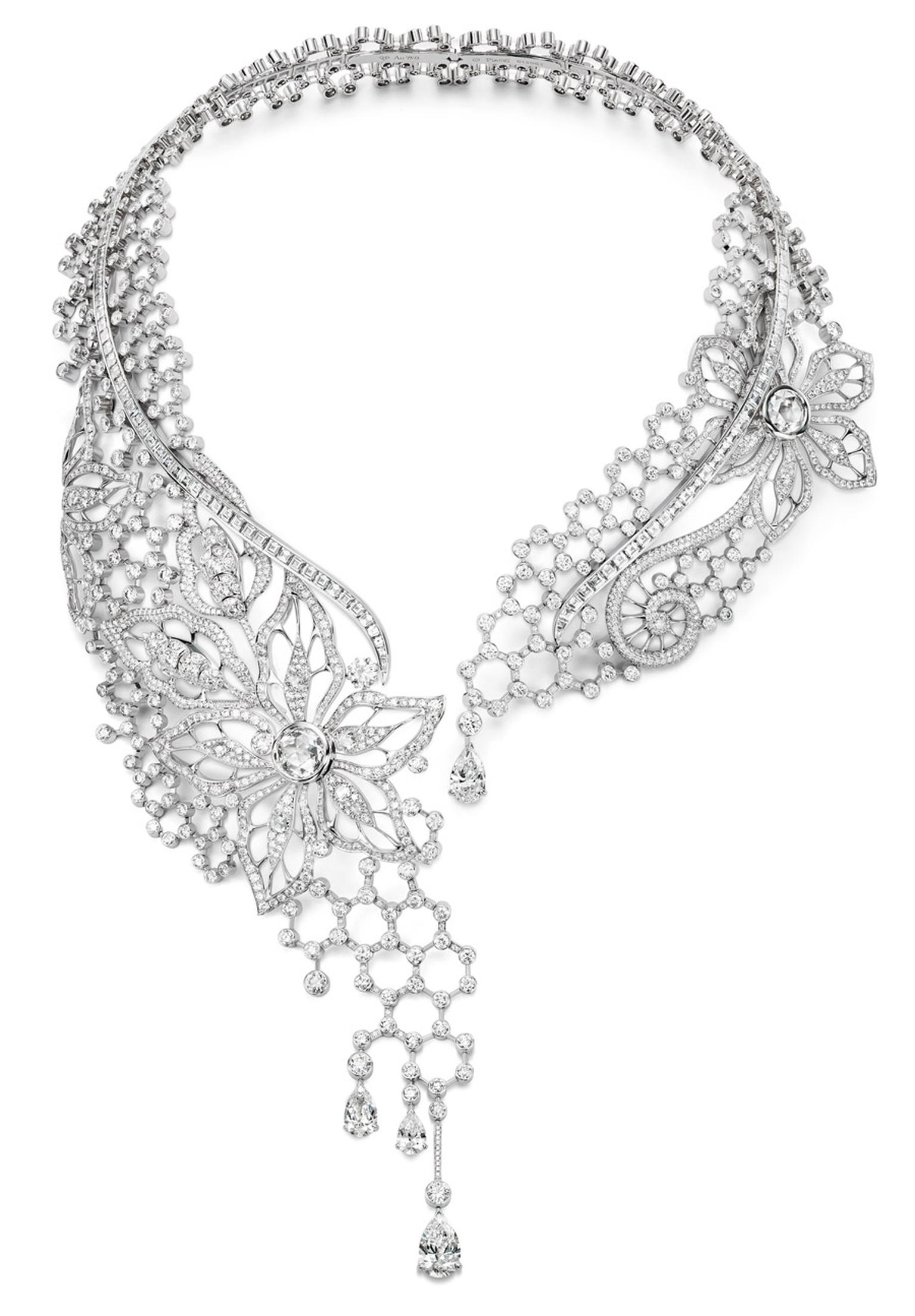 Piaget Couture Pre´cieuse necklace Diamond Embroidery Inspiration