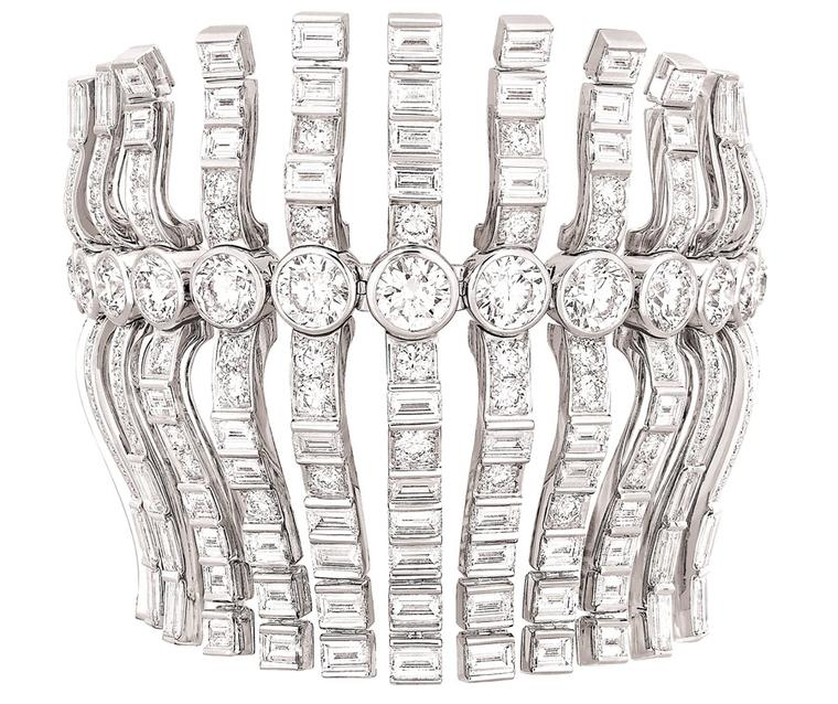 Chanel Manchette Franges Swing diamond bracelet