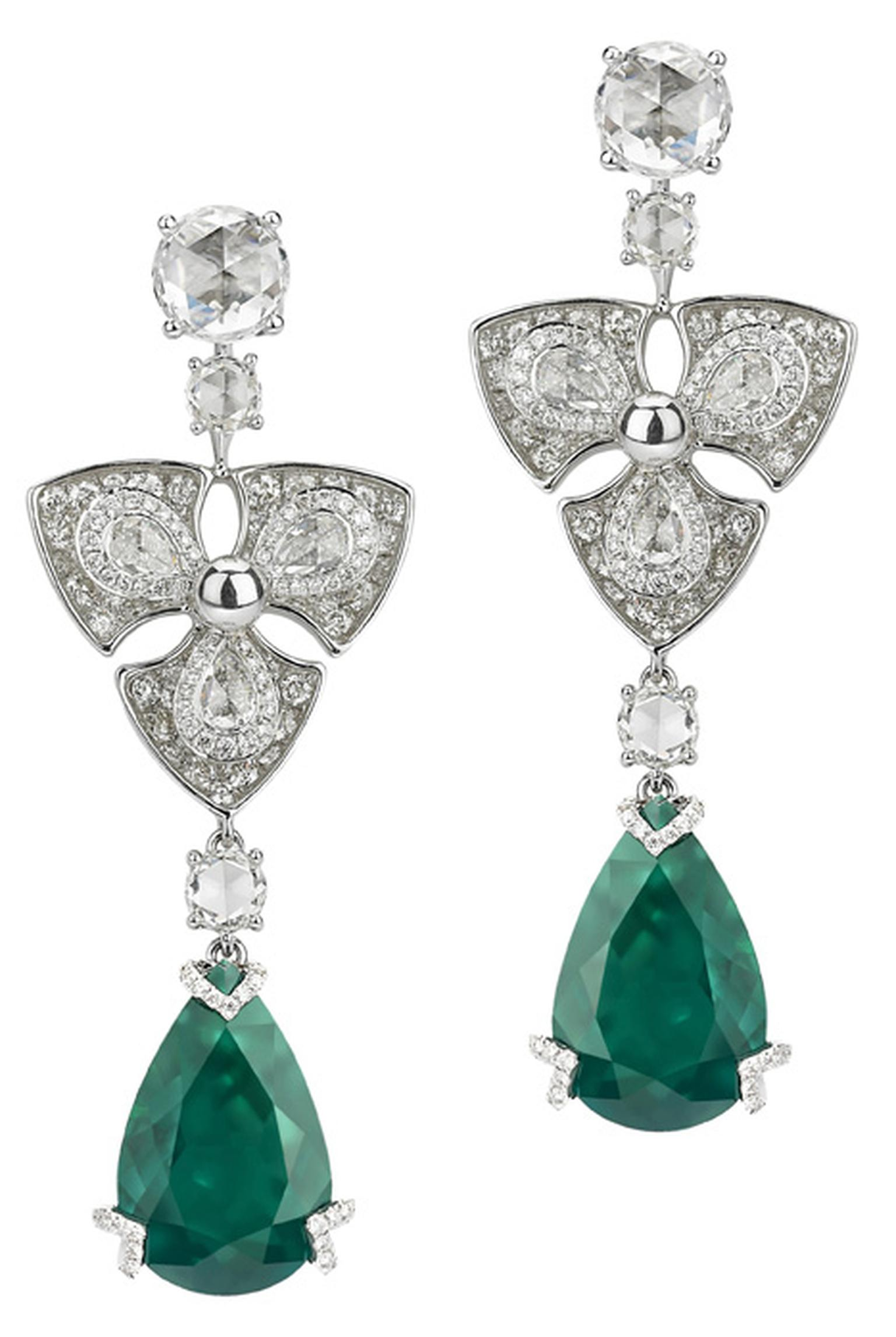 Avakian-pear-shape-emerald-earrings
