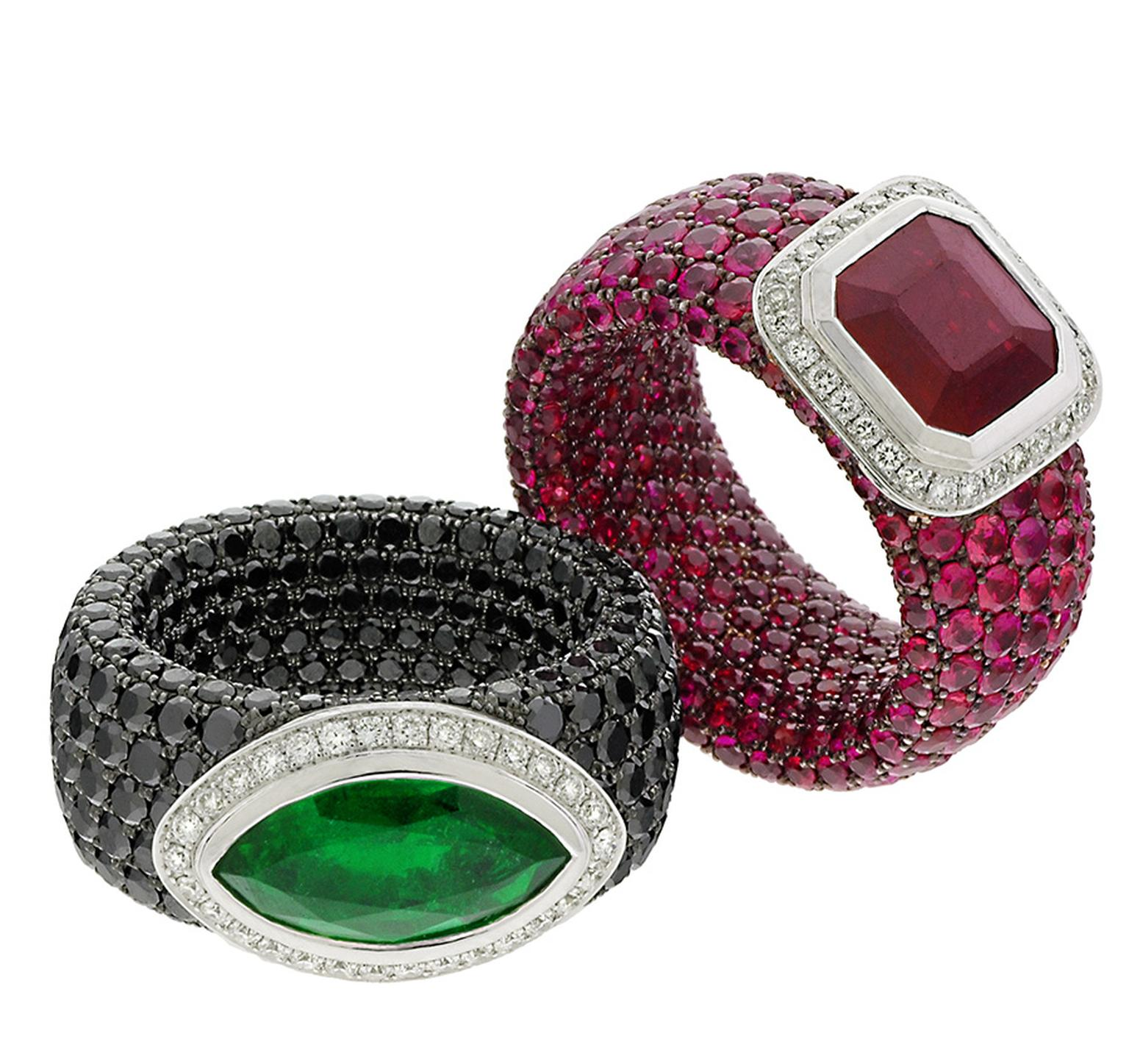 01-AVAKIAN-emerald-and-ruby-rings