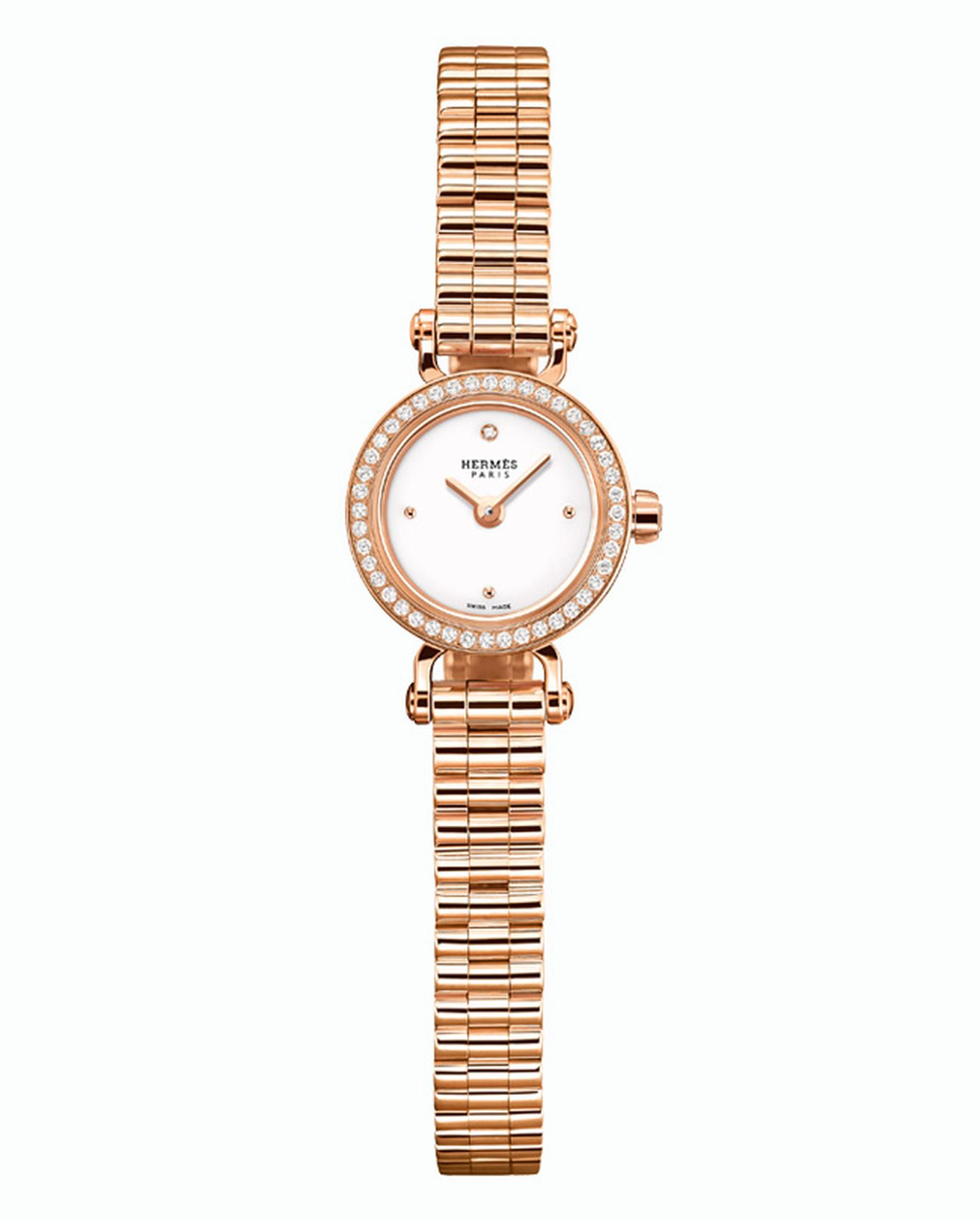 Hermes Faubourg watch in rose gold with diamonds_20140131_Main