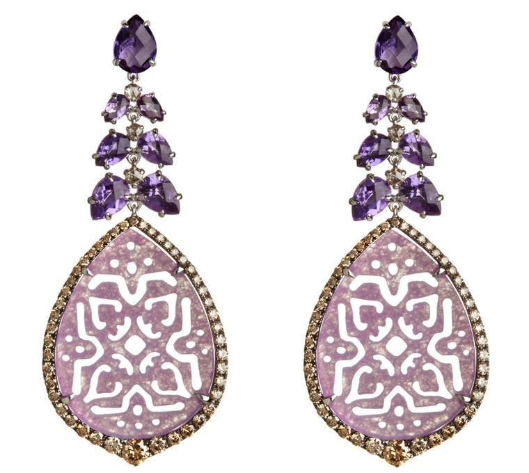 Annoushka-Alhambra-18ct-rose-gold-amethyst-diamond-and-jade-earrings
