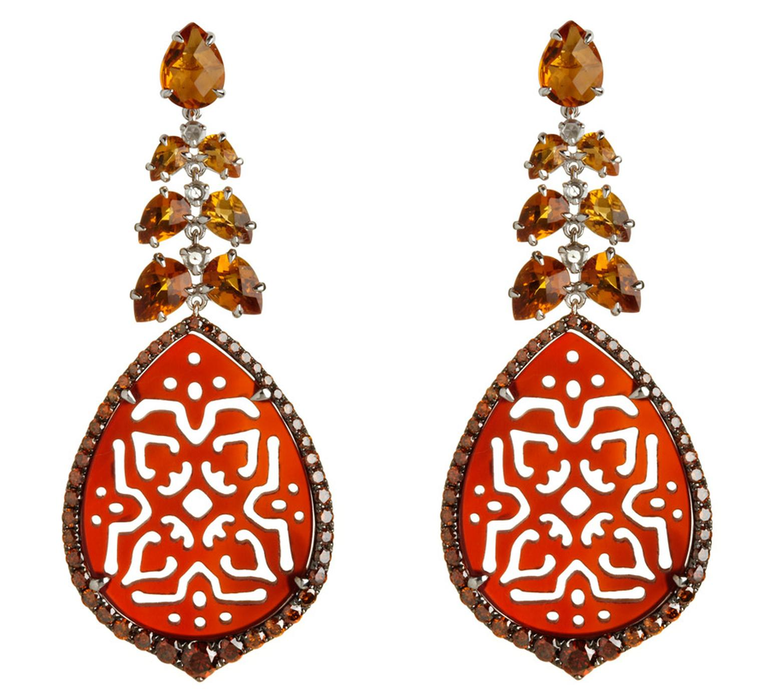 Annoushka-Alhambra-18ct-white-gold-diamond-citrine-and-agate-earrings