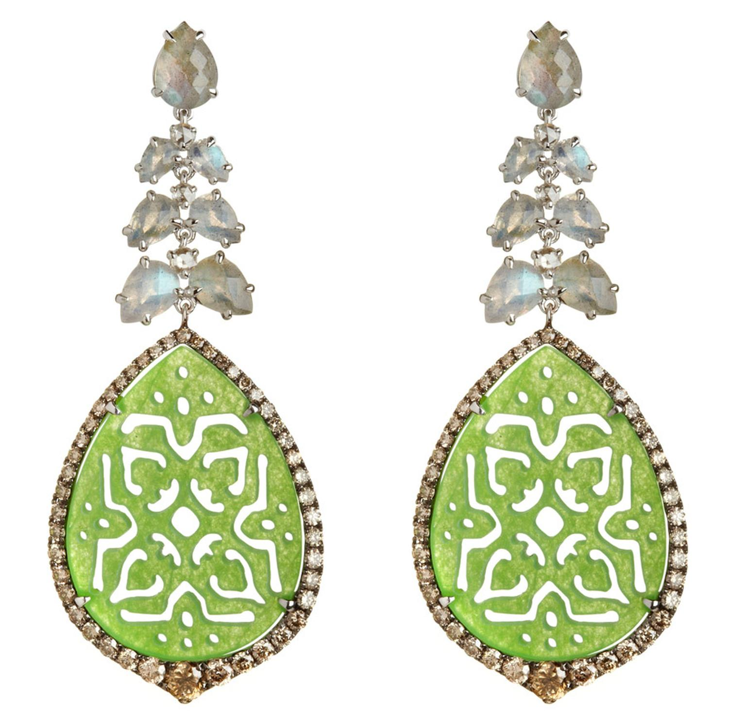 Annoushka-Alhambra-18ct-white-gold-diamond-moonstone-and-Jade-earrings