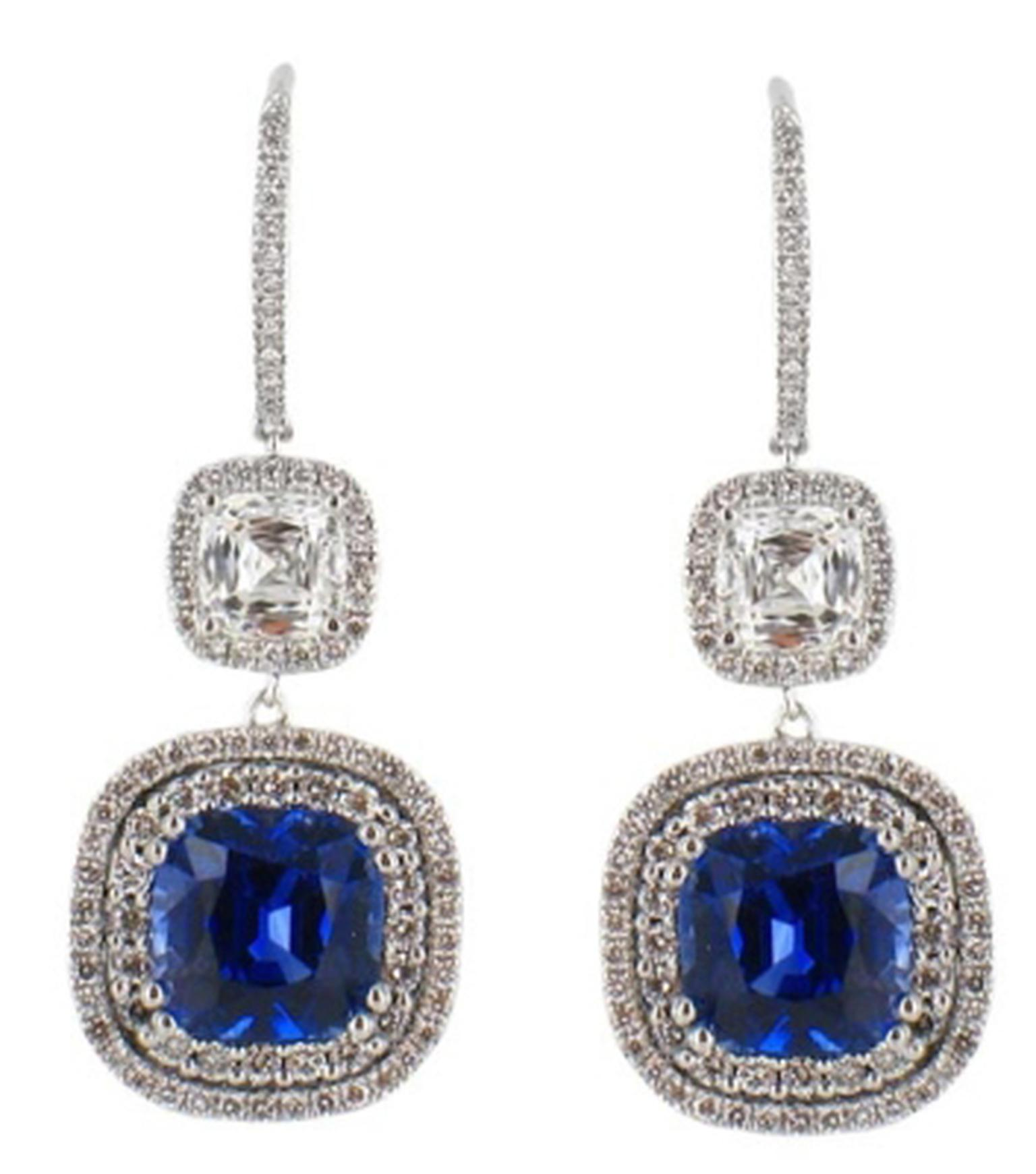 The necklace and earrings worn by BAFTAs 2014 presenter Gillian Anderson were set with 30ct sapphires and 18ct diamonds