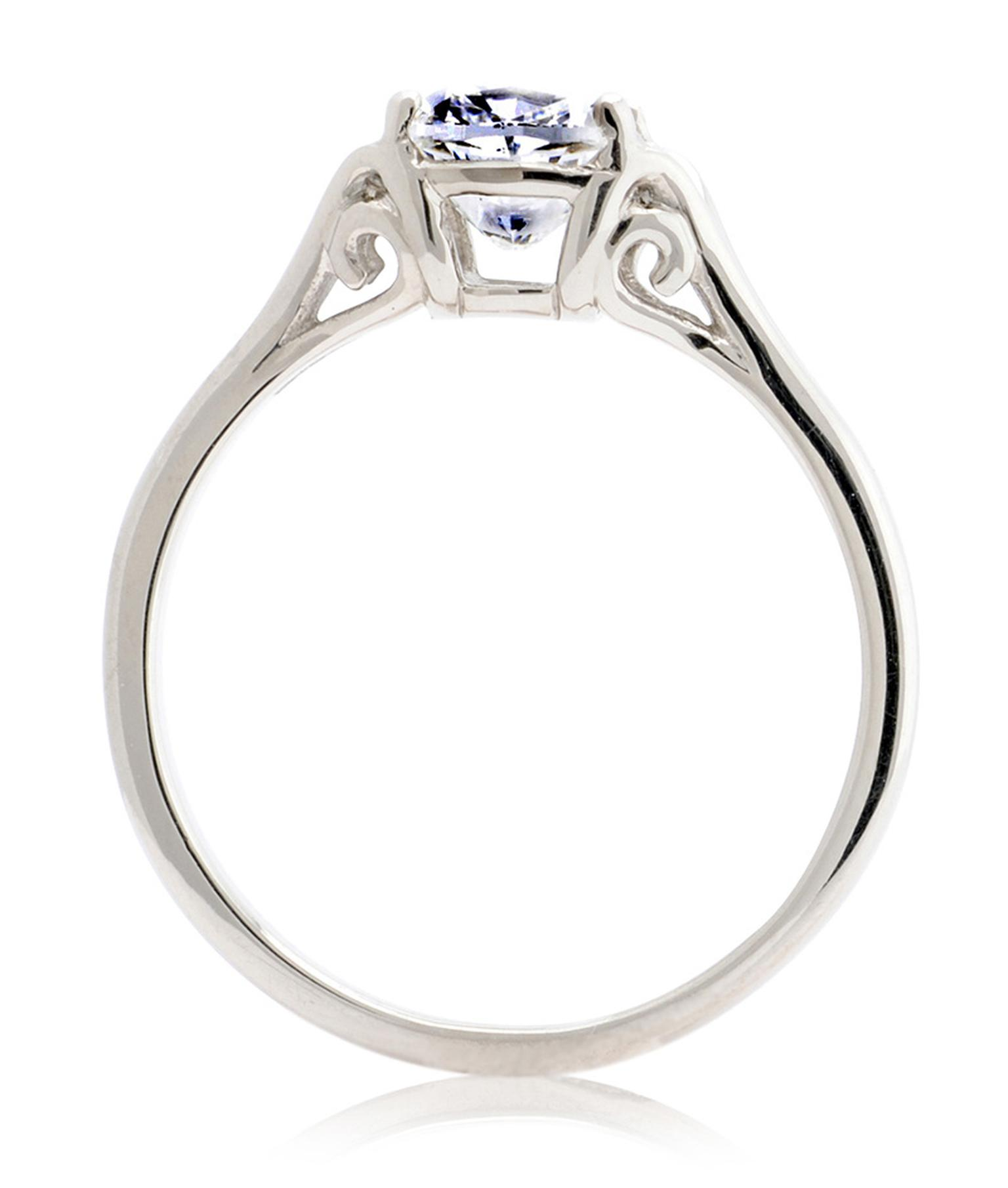 CRED Vintage cushion-cut diamond ring (from £6,450), available in Fairtrade white or yellow gold.