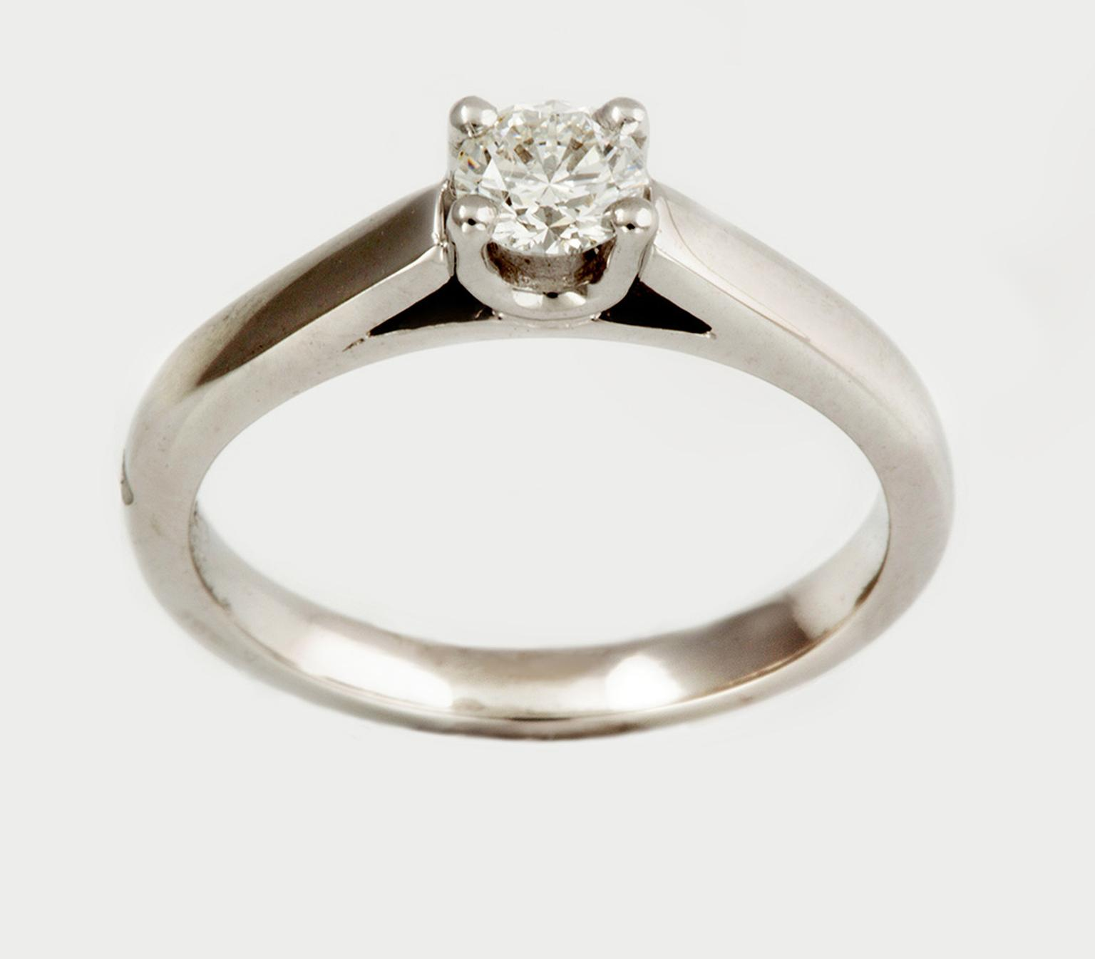 Foundation Calliope solitaire engagement ring (from £1,500), available in 18ct Fairtrade white, yellow or rose gold