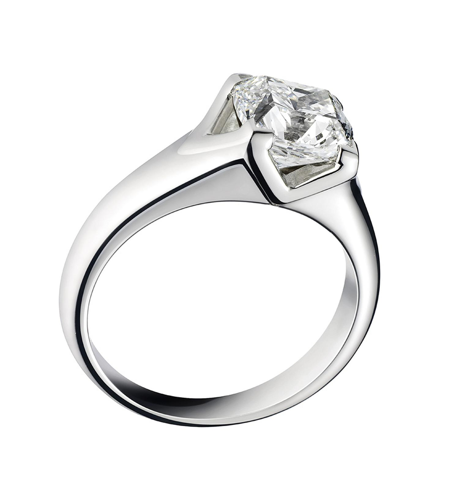 Asprey Cut diamond engagement ring