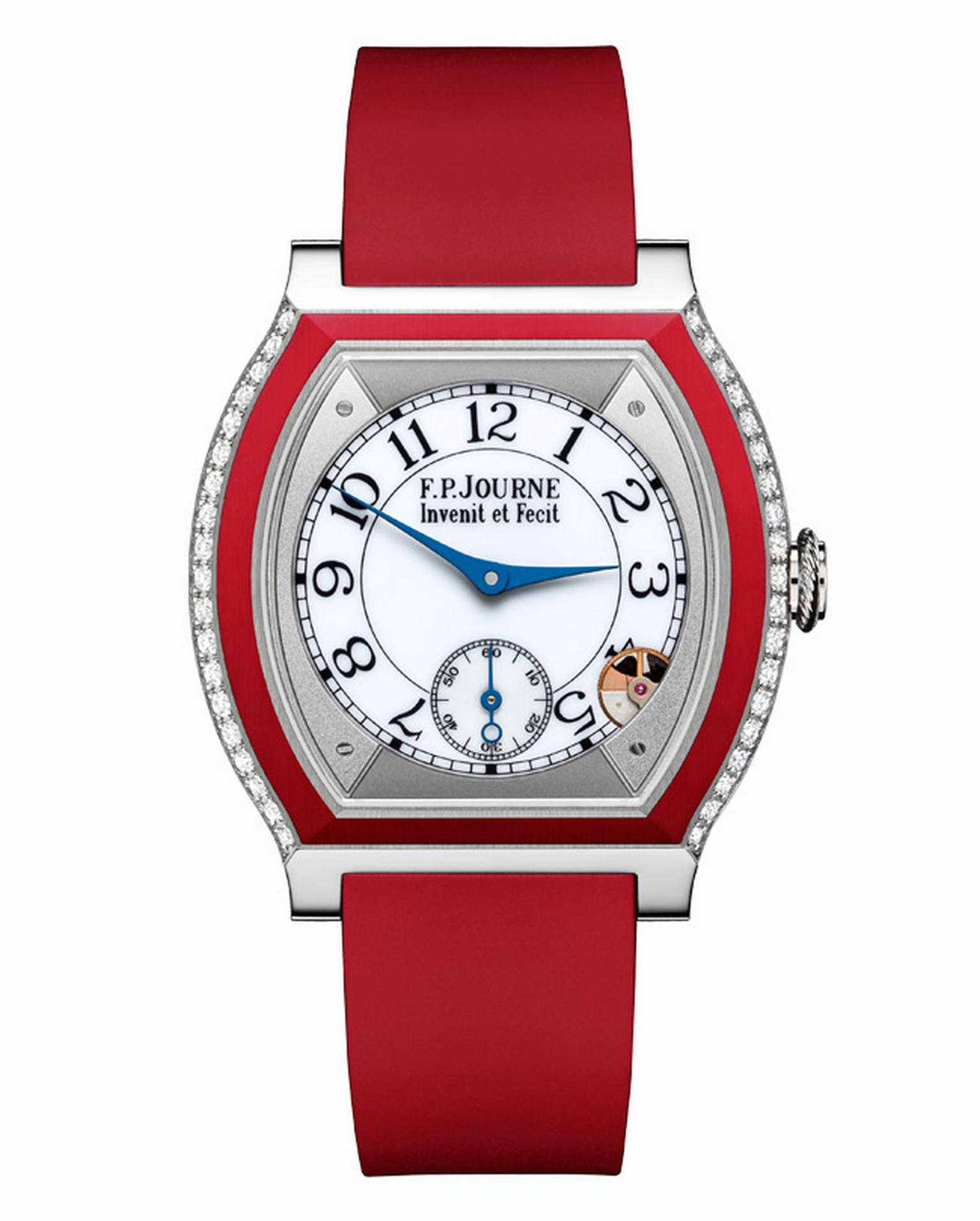 F.P.Journe Élégante watch in titanium and red rubber_20140220_Main